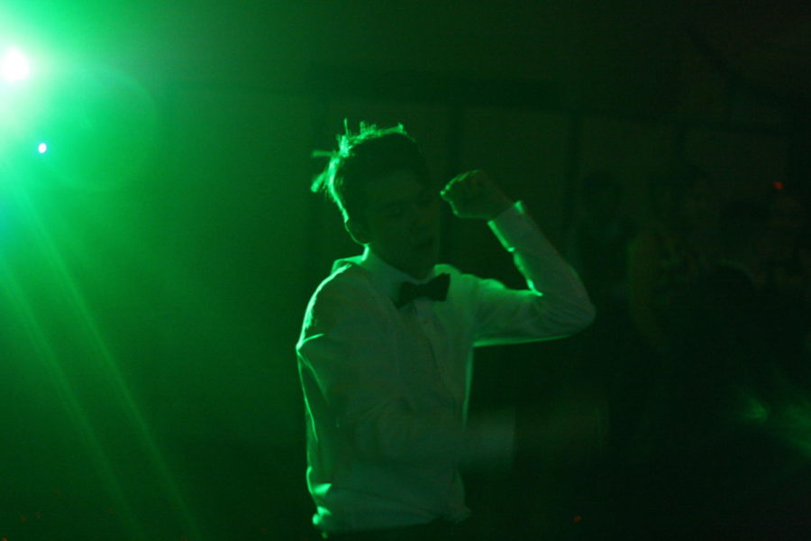 Chase Cummins dancing the night away, as he feel the music pumping through his body.