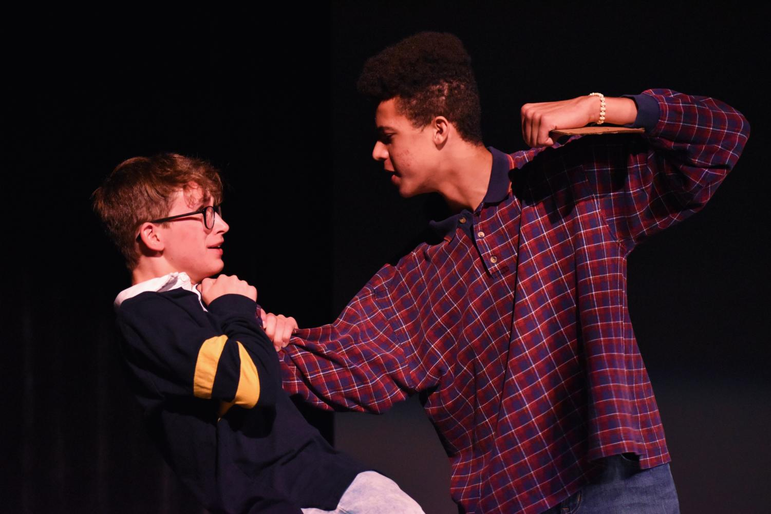 Photo of Kobe Chindlund and Isaac Tominsky in the play